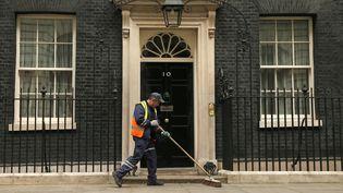 Le 10Downing street de Londres, résidence du premier ministre britannique, nettoyé le 7 mai 2015 (PHIL NOBLE / REUTERS  )