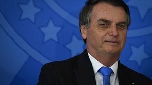 Le président brésilien Jair Bolsonaro, le 28 août 2019. (MATEUS BONOMI / AGIF / AFP)