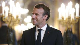 Emmanuel Macron à Madrid (Espagne), le 26 juillet 2018. (PAUL HANNA / AFP)