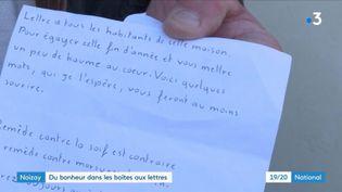 Sujet lettres mystérieuses - Noisay (CAPTURE ECRAN FRANCE 2)