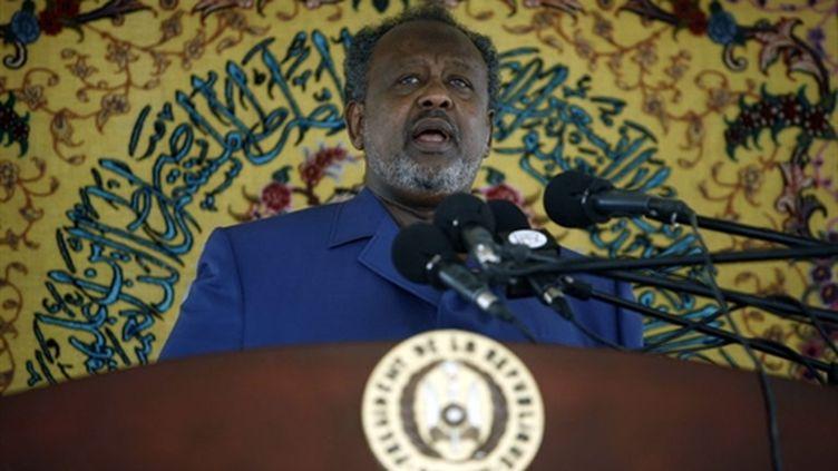 Le président de Djibouti, Ismaël Omar Guelleh, contre lequel sont dirigées les manifestations de l'opposition (AFP - JOSE CENDON)