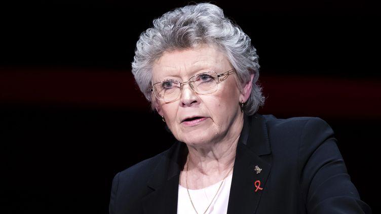 Françoise Barré-Sinoussi,présidente du Sidaction, le 5 mars 2018. (VINCENT ISORE/IP3 / MAXPPP)