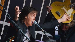 Paul McCartney à Times Square (New York), le 10 octobre 2013  (Slaven Vlasic / AFP)