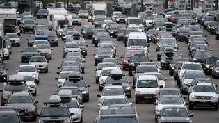 L'autoroute A7, le 1er août 2015, journée annoncée comme la pire de l'été pour le trafic routier. (PHILIPPE DESMAZES / AFP)