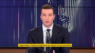 Jordan Bardella, vice-président du Rassemblement national.  (FRANCEINFO / RADIOFRANCE)