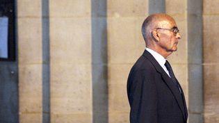 Le général Philippe Rondot, le 5 octobre 2009, durant le procès Clearstream, au tribunalde Paris. (FRED DUFOUR / AFP)