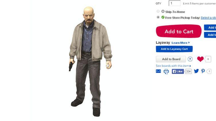 (Walter White est le héros maléfique de la série Breaking Bad © Capture d'écran/toysrus.com)