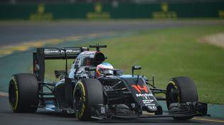 Fernando Alonson (MacLaren), lors du Grand Prix d'Australie, à Melbourne, dimanche 20 mars 2016. (PETER PARKS / AFP)