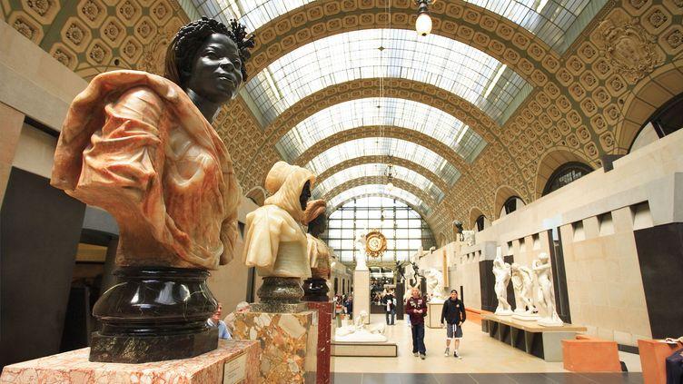 Bustes signés Charles Cordier (Musée d'Orsay). (SONNET SYLVAIN / HEMIS.FR / AFP)