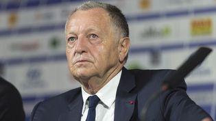 Le président de l'Olympique lyonnais, Jean-Michel Aulas, le 16 juin 2017. (ROMAIN LAFABREGUE / AFP)