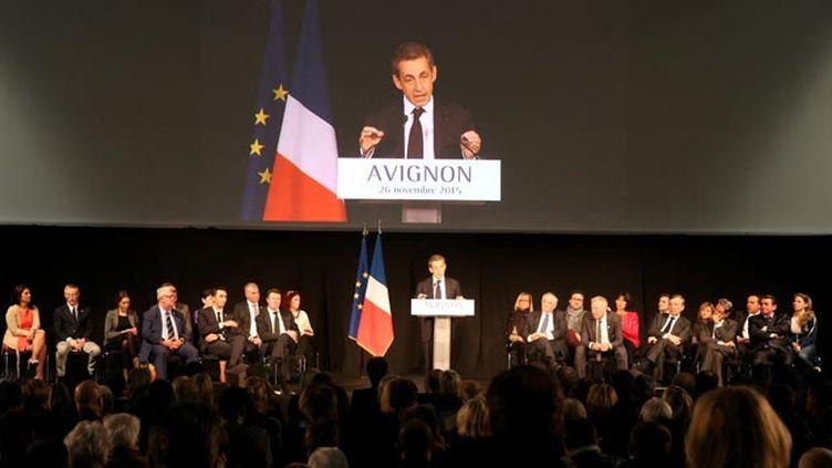 (Nicolas Sarkozy en meeting à Avignon fin novembre, avant le 1er tour © MAXPPP)