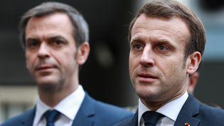 Emmanuel Macron, le 10 mars 2020 à Paris. (LUDOVIC MARIN / AFP)