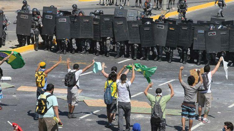 Affrontements à Fortaleza