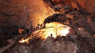 Les grottes de la Balme (Isère). (NELSON STEPHANIE / MAXPPP)