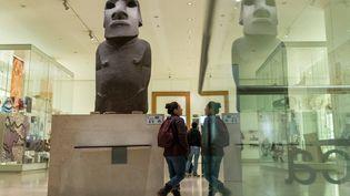 Statue moai de l'île de Paques, Hoa Hakananai'a, British Museum, novembre 2018 (STEPHEN CHUNG/LNP/REX/SHUTTERSTOCK/SIPA / SHUTTERSTOCK)