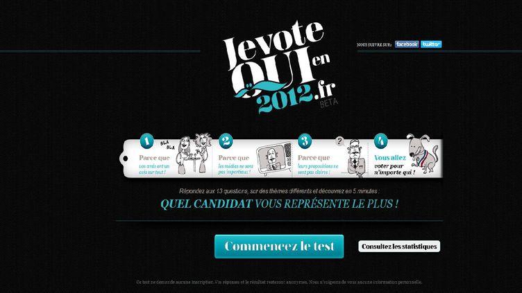 Ce site propose un quiz pour se familiariser avec les programmes respectifs des candidats à la présidentielle (Capture d'écran)