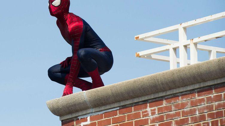 Un homme costumé en Spider-Man, le 25 avril 2014 dans le quartier du Queens, à New-York (Etats-Unis). (CHARLES SYKES / AP / SIPA)