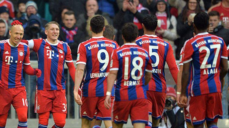 Robben a inscrit un doublé pour le Bayern de Munich.  (PETER KNEFFEL / DPA)