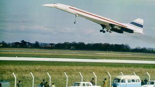 Un Concorde décolle de l'aéroport de Toulouse-Blagnac (Haute-Garonne), le 2 mars 1969. (AFP)