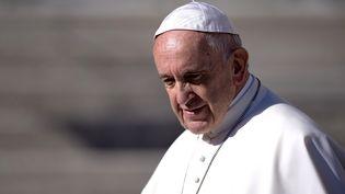 Le pape François sur la place Saint-Pierre, au Vatican, le 8 novembre 2017. (FILIPPO MONTEFORTE / AFP)