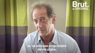 """VIDEO. Vincent Lindon : """"Je suis à une place mais ce n'est pas la mienne. Je suis en location"""" (BRUT)"""