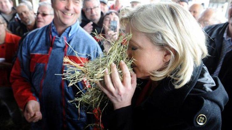 Marine Le Pen sent bien le premier tour (FRED TANNEAU / AFP)