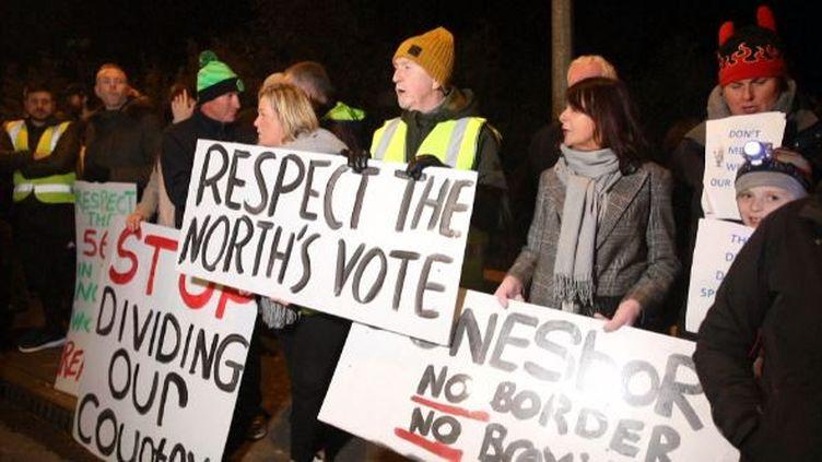 Les Irlandais se mobilisent contre un retour d'une frontière (France 24)