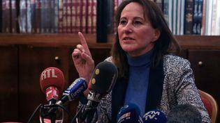Ségolène Royal lors d'une conférence de presse pour soutenir la candidature deSamia Ghali à la mairie de Marseille, dans la ville phocéenne, le 23 janvier 2020. (CHRISTOPHE SIMON / AFP)