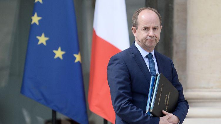 Jean-Jacques Urvoas, alors ministre de la Justice, devant l'Elysée à Paris, le 6 juillet 2016. (STEPHANE DE SAKUTIN / AFP)
