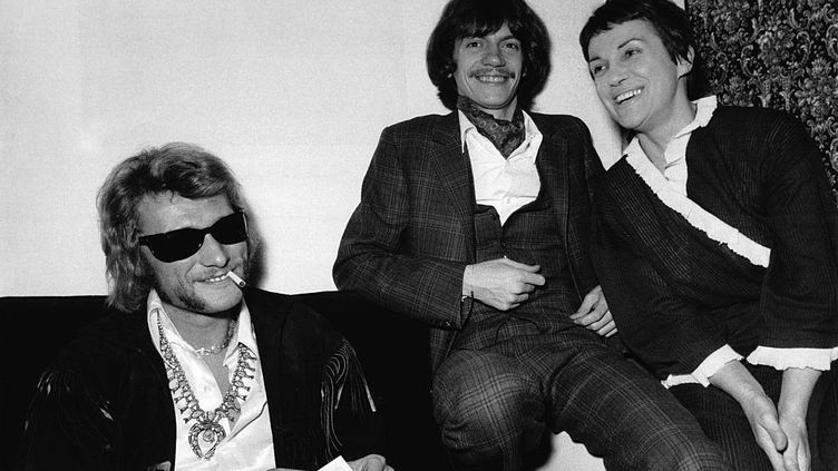 Johnny Hallyday, Antoine, et Georgette Plana. (MAXPPP)