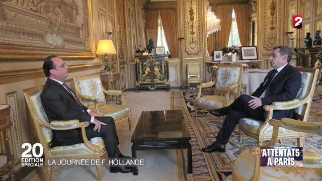 Attentats de Paris : les représentants de la classe politique reçus par François Hollande