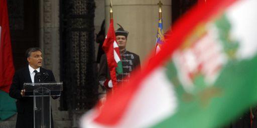 Le Premier ministre hongrois, Viktor Orban, prononce un discours devant le Parlement hongrois à Budapest le 23 octobre 2012. (Reuters - Bernadett Szabo)