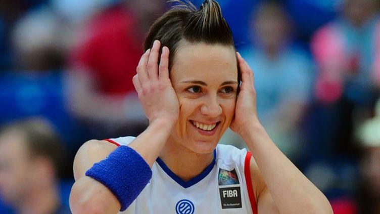La joueuse de l'équipe de France féminine de basket, Céline Dumerc
