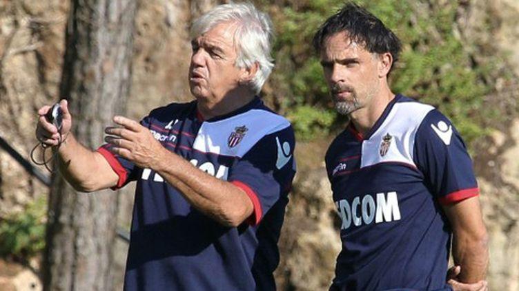 Marco Simone (à droite) et Jean Petit