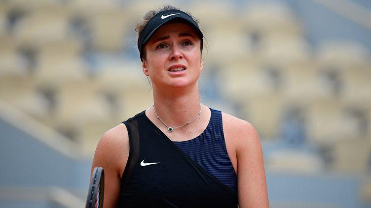Elina Svitolina a été sortie au 3e tour de Roland-Garros par la Tchèque Barbora Krejcikova samedi 5 juin 2021. (MARTIN BUREAU / AFP)