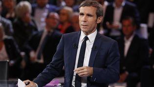 David Pujadas, le 20 octobre 2016 sur France 2. (PATRICK KOVARIK / AFP)