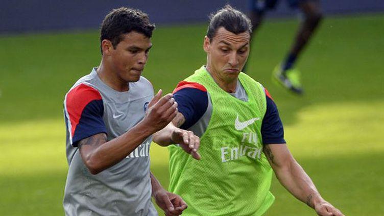 Thiago Silva et Zlatan Ibrahimovic