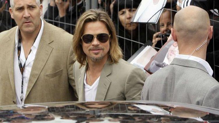 Brad Pitt mardi marin à Cannes  (Francois Mori/AP/SIPA)