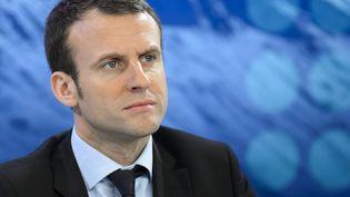 Emmanuel Macron, ci-contre au forum économique de Davos le 22 janvier 2016. (FABRICE COFFRINI / AFP)