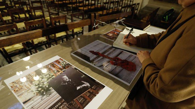 Eglise de la Madeleine, hommages à Johnny, 9 janvier 2018  (FRANCOIS GUILLOT / AFP)