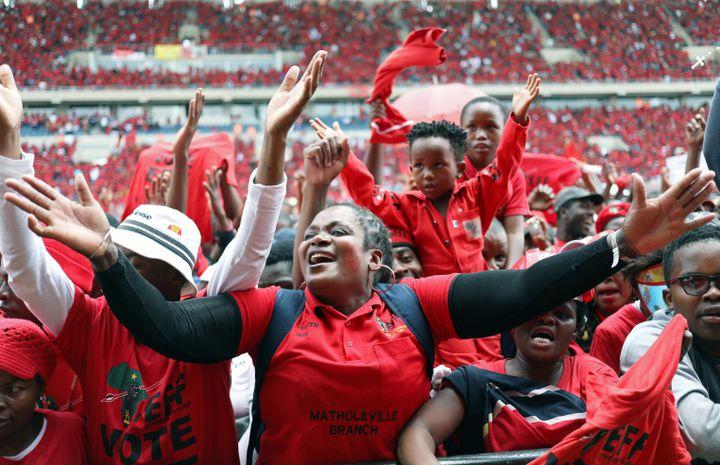 Partisans du mouvement de gauche radicale EFF àSoshanguve, près de Prétoria, le 2 février 2019 (REUTERS - SIPHIWE SIBEKO / X90069)
