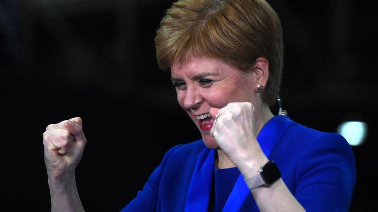 La Première ministre écossaise, Nicola Sturgeon, le 13 décembre 2019 à Glasgow (Ecosse). (ANDY BUCHANAN / AFP)