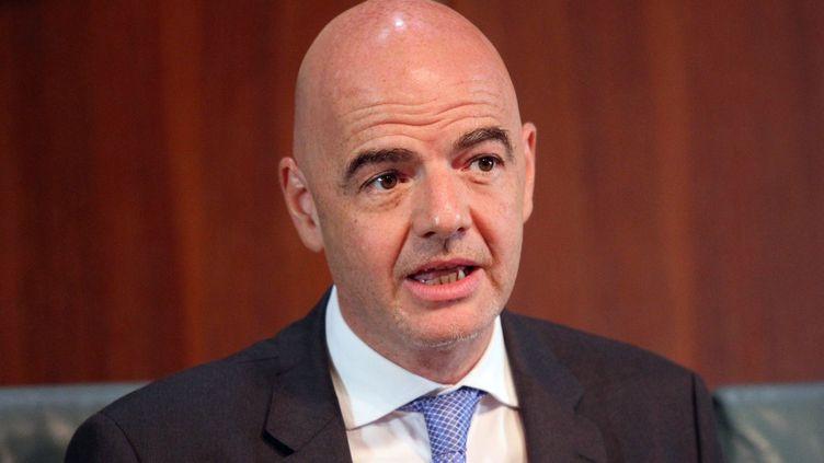 Gianni Infantino, président de la FIFA (PHILIP OJISUA / AFP)