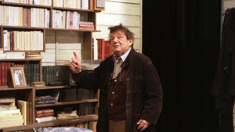 """Marcel Maréchal au filage de la pièce """"Opus Coeur"""" au théâtre Petit Hebertot en février 2015. (DELALANDE/SIPA)"""