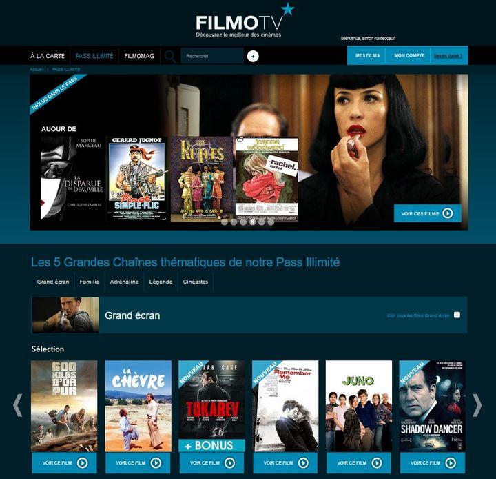 La page d'accueil d'un compte en accès illimité FilmoTV. (FILMOTV)