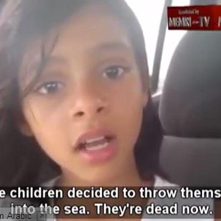 Capture d'écran de la vidéo YouTube de Nada Al-Ahdal, publiée sur le compte de Memri TV. (YOUTUBE / FRANCETV INFO)