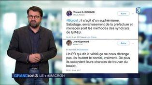 Les réseaux sociaux ont beaucoup commenté les propos du président. (FRANCE 3)