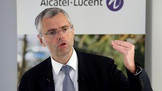 L'ex-directeur général d'Alcatel-Lucent, Michel Combes, à Paris, le 6 février 2015. (FRANCOIS MORI / AP / SIPA)