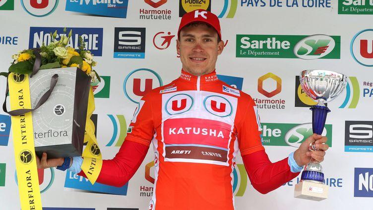 Le Russe Anton Vorobyev (Katusha) a remporté la 4e étape du Circuit Sarthe-Pays de Loire (EDDY LEMAISTRE / MAXPPP)