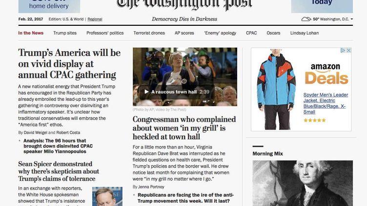 """Le site du """"Washington Post"""", le 22 février 2017. (AP/SIPA / AP)"""